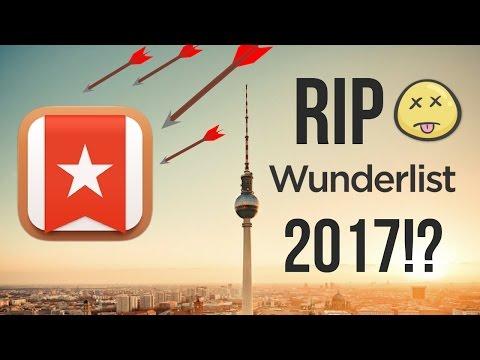 RIP WUNDERLIST • 2017?! 😵