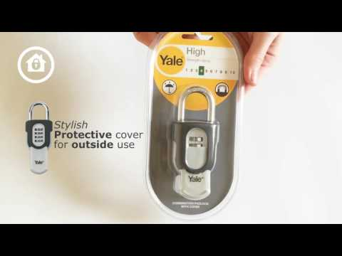 Yale Combination Padlock Slide Product Overview