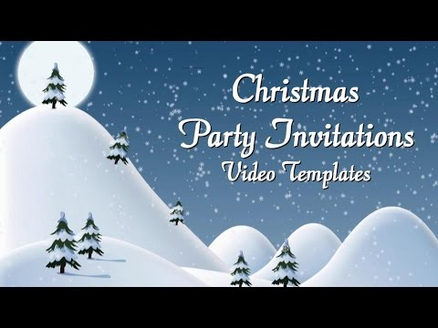 Enchanting Christmas Party Invitations For Facebook, Pinterest, YouTube & Emails
