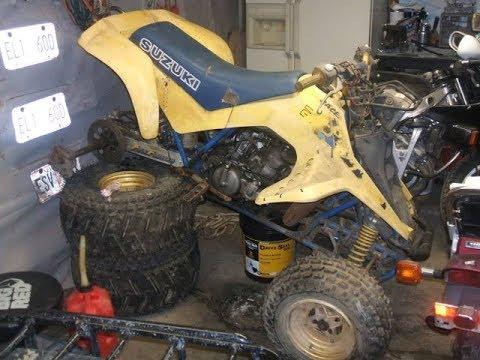 1990 Suzuki LT250r project: Teardown
