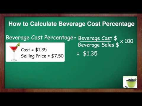 How To Calculate Beverage Cost Percent
