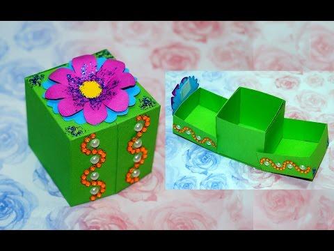 DIY paper crafts idea - gift box ideas craft   Gift box making   DIY box gift ideas   Julia DIY
