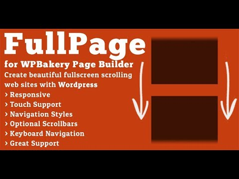FullPage for WPBakery Page Builder - Responsive Auto Height Demo Tutorial