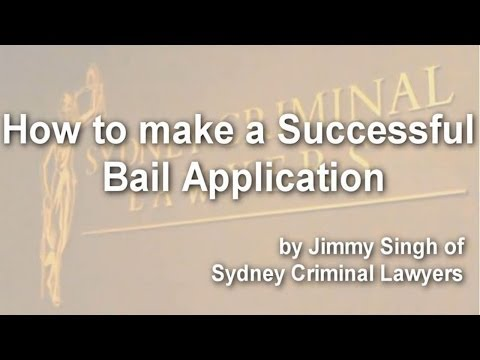 How to make a successful bail application