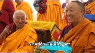 སྐྱབས་རྗེ་ཡོངས་འཛིན་ཆེ་མོའི་དགུང་སྟོན་བསུ་བ། A good Tibetan sang for H.E Yongzin Rinpoche.