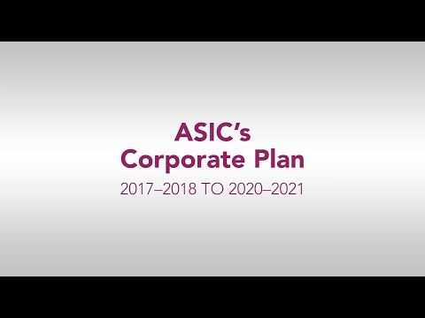 ASIC's Corporate Plan 2017