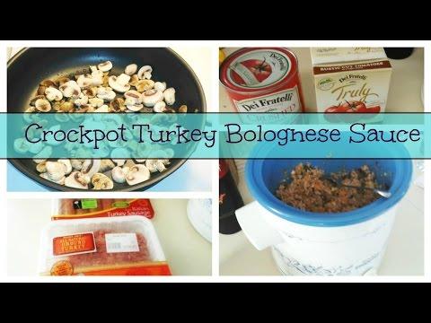 Crockpot Turkey Bolognese Sauce Recipe