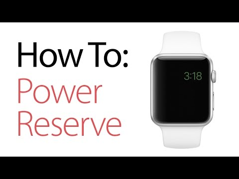 How to Put the Apple Watch in Power Reserve Mode