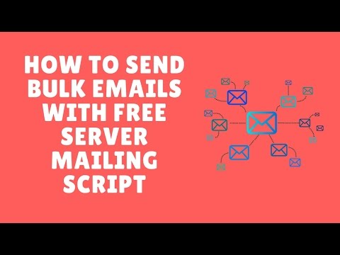 how to send bulk emails with free server mailing script