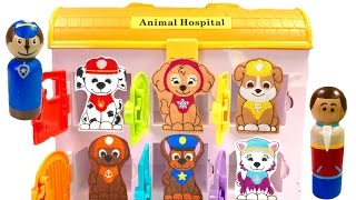 Best Learning Colors Video for Children -  Paw Patrol Animal Hospital & Mr Play Doh Dentist
