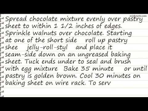 Recipe Chocolate Walnut Strudel