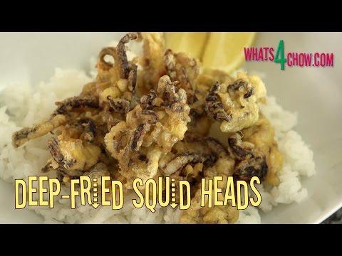 Deep-Fried Calamari / Squid Heads. How to Prepare, Coat and Deep-Fry Calamari Tentacles.