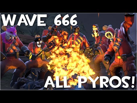 TF2: Attempting to Beat Wave 666 With All Pyros! (feat  Doplr & Sam_Salty)