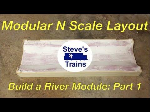 Modular N Scale Layout Part 3: Building a River Module (Part 1)