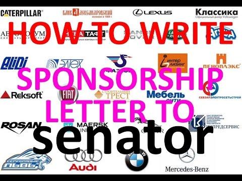 How to write sponsorship letter to senator