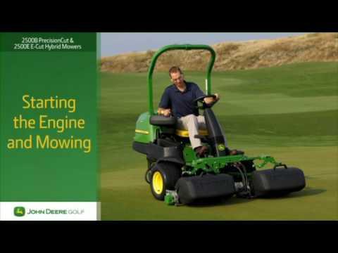John Deere 2500B and 2500 E-Cut Mowers Operator Video