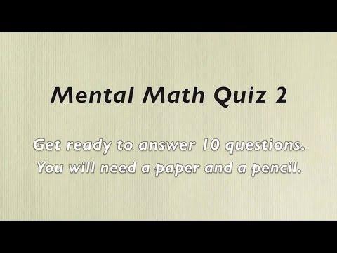 Mental Math Quiz 2 - Grades 2 and 3 Math - Numeracy Skills - Sparkles Online School