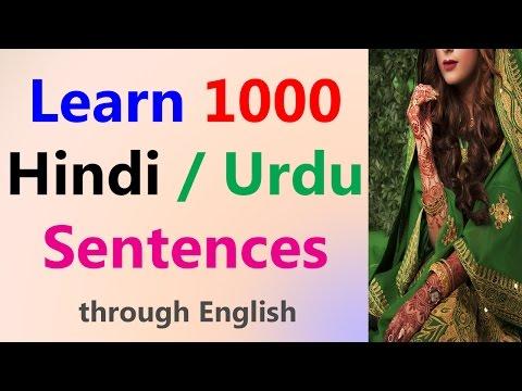Learn Hindi Through English - 1000 Hindi sentences