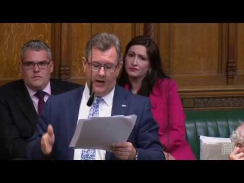 Jeffrey Donaldson speaks during Parliamentary debate on abortion in Northern Ireland
