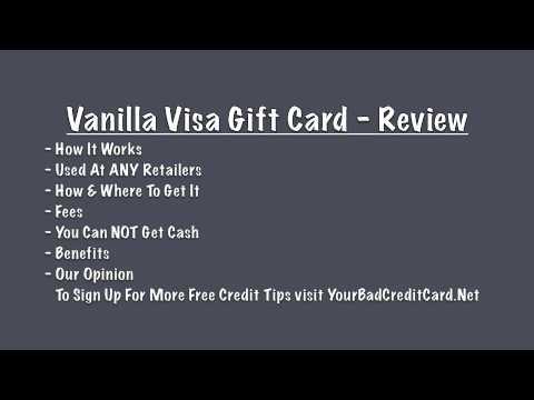 Vanilla Visa Gift Card Review