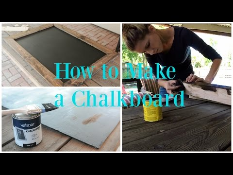 How to Make a Magnetic Chalkboard EASY tutorial