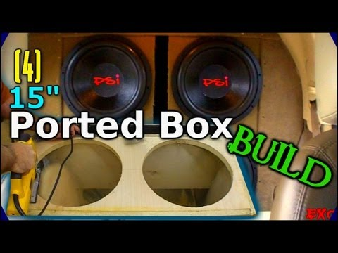 Building a Ported Subwoofer Box   How to Build 4 15