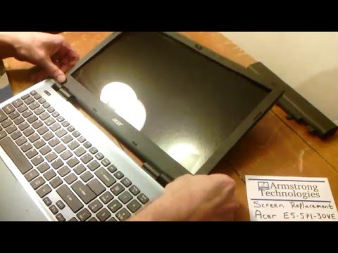 Laptop screen replacement / How to replace laptop screen Acer E5-571-30VE