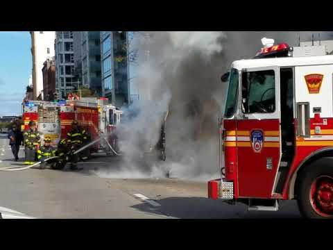 FDNY response to vehicle fire