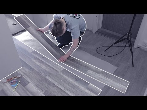 Laying Wooden Floor Tiles in a Hallway