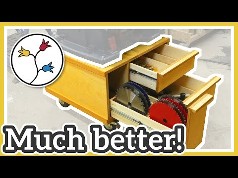 MAKE PLYWOOD DRAWERS for the table saw station – QUICK and EASY