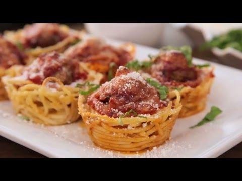 How to Make Spaghetti and Meatballs Muffin Bites | Appetizer Recipes | Allrecipes.com