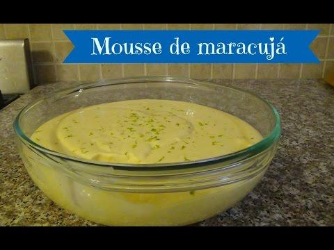 Brazilian Passion Fruit Mousse - Mousse de Maracujá