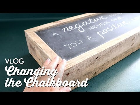 Vlog: Changing the Chalkboard | A Thousand Words