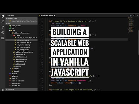 Building a scalable web application in vanilla Javascript
