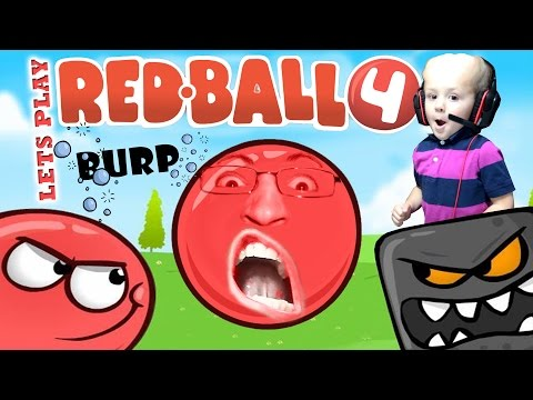 Lets Play REDBALL 4 w/ CHASE + BURP Contest! (Volume 1: Levels 1-8 FGTEEV Kids iPad Gameplay)