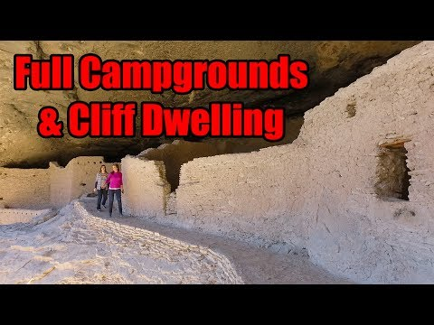 Full Campgrounds So We Go Cliff Dwelling - Ep. 40 - Full Time RV Living