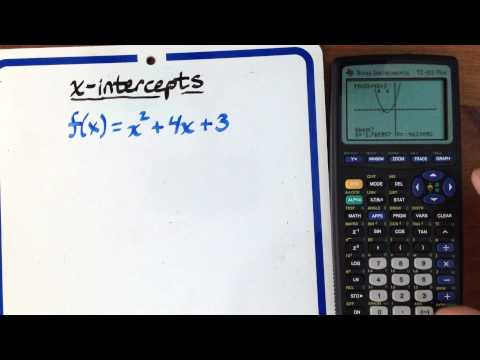 Finding x-intercepts (using a graphing calculator)
