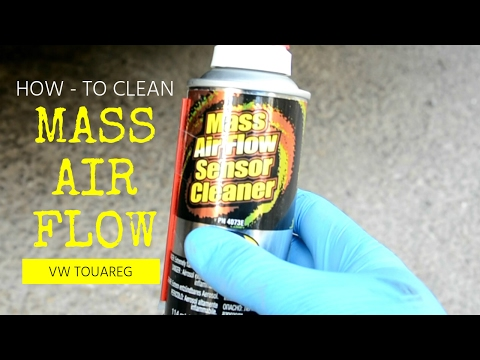 How To Clean a Mass Airflow Sensor MAF vw touareg