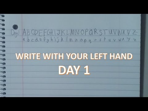 Learn to Write with your Left Hand | DAY 1