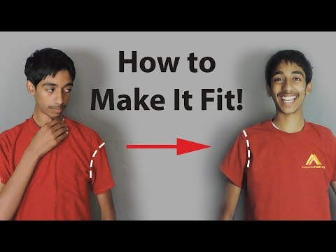 How to Tailor Mens T-Shirt Shoulders (DIY Easy Sewing Tutorial)