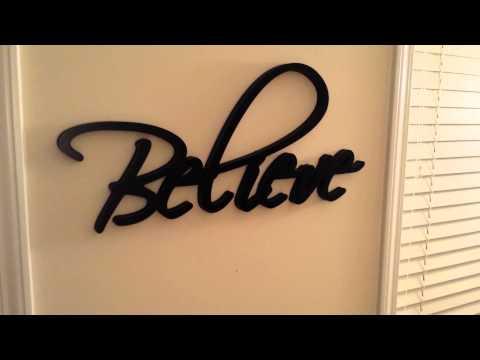 Christian Wall Art - Wall Word Believe