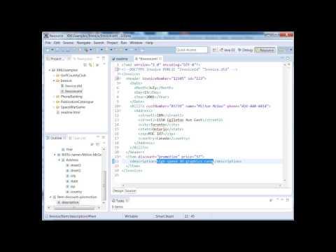 XML Training Courses -  How to Use XML DTD Validation Using Eclipse