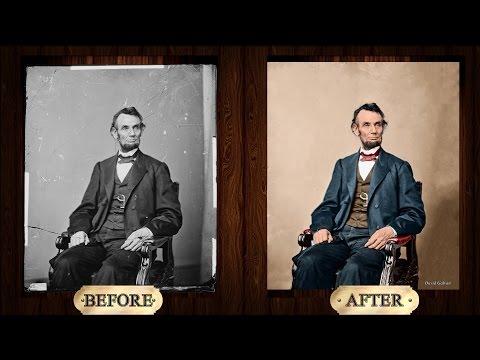 [Adobe Photoshop CC] Abraham Lincoln Photo Restoration & Colorization Time-lapse