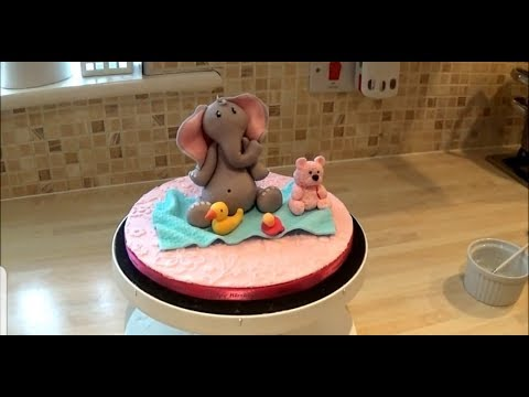 How to make a Birthday Cake Elephant Topper or for Baby Shower (Beginners)
