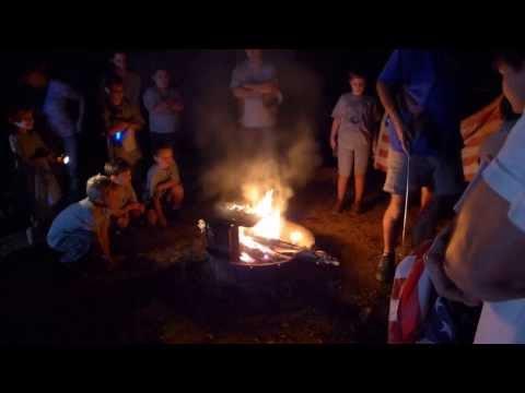 Cub Scouts Burn Flags