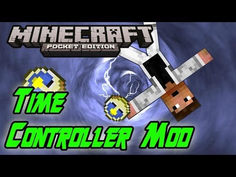 TIME CONTROLLER MOD!! Minecraft PE: Mod Showcase [0.8.1]