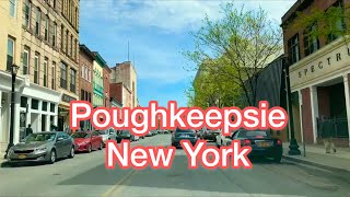 Driving through Mid-Hudson Bridge to  Main Street, Poughkeepsie,  New York, USA