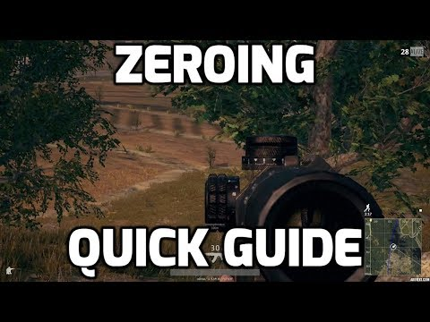Quick Guide to Zeroing in PUBG! (EVERYTHING YOU NEED TO KNOW)