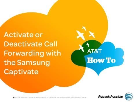 Activate or Deactivate Call Forwarding with the Samsung Captivate: AT&T How To Video Series