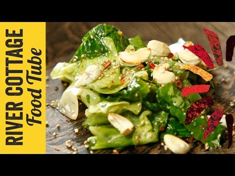 Tamari greens with cashews and ginger | Hugh Fearnley-Whittingstall